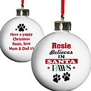 Santa Paws Bauble