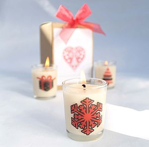 Make Your Own Christmas Candles Craft Kit - votives & tealights