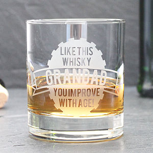 Personalised 'Like This' Whisky Glass - gifts for him