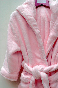 Girl's Pale Pink Dressing Gown - children's nightwear