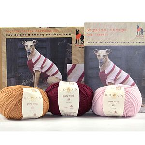 Stylish Stripe Knitted Dog Jumper Kit - dogs