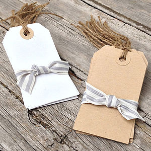 Pack Of Ten Luggage Tag Gift Labels - cards & wrap