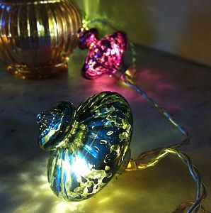 Kasbah Handmade Glass Fairy Light String - christmas home