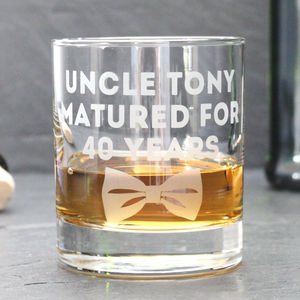 Personalised 'Dickie Bow' Whisky Glass - kitchen