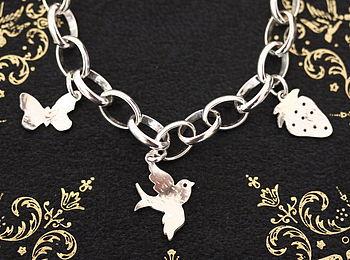 Handmade Silver Charm Bracelet