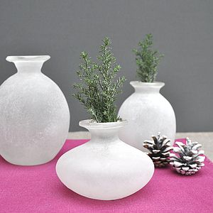 Frosted Glass Vases