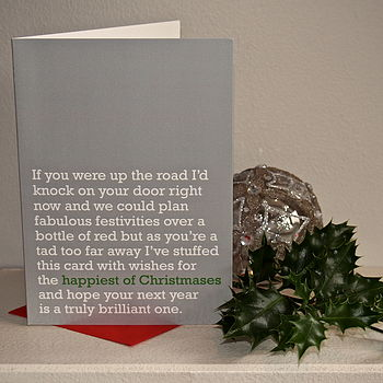 'Happiest Of Christmases' Christmas Card