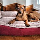 Cradle Dog Bed Winterberry Red