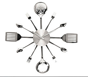 Kitchen Utensil Wall Clock - as seen in the press