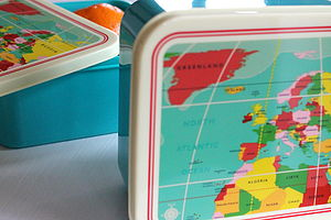 Map Of The World Lunch Box - lunch boxes & bags