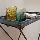 Zinc Tray Table