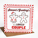 Special Couple Gingerbread Christmas Card