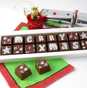 Merry Xmas Chocolates - christmas parties & entertaining