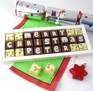 Personalised Christmas Chocolates - gifts for teachers