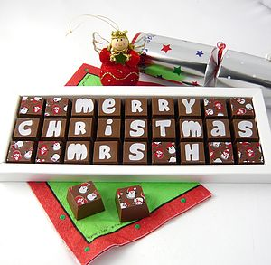 Personalised Christmas Chocolates - wedding favours