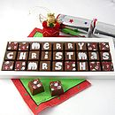 Personalised Christmas Chocolates