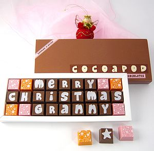 Personalised Christmas Chocolates For Grandparents