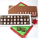 Personalised Merry Christmas Chocolates With Name