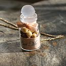 Gold plate necklace with mini truffle sweets jar charm