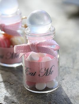 Necklace with Mini pink and white sweets jar charm