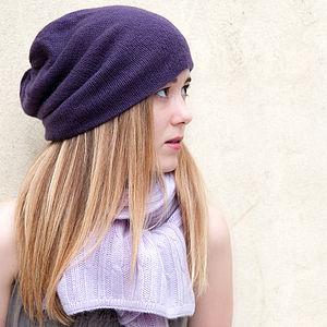 100% Cashmere Beanie Hat - wrap up warm
