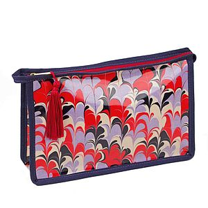Bergen Marbled Coated Wash Bag - make-up & wash bags
