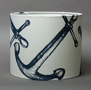 Maritime Range 30cm Anchor Lampshade - furnishings & fittings