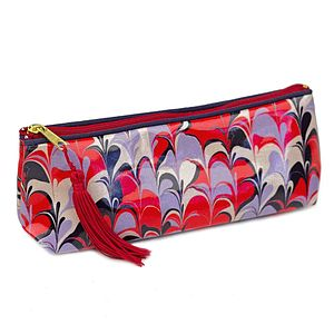 Bergen Marbled Coated Cosmetic Bag - women's accessories