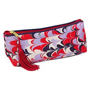 Bergen Marbled Make Up Bag - wash & toiletry bags