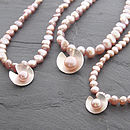 Lily Pearl Necklace - Pink