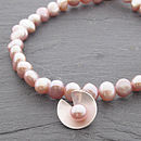 Lily Pearl Bracelet - Pink