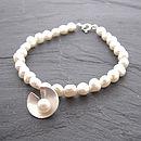 Lily Pearl Bracelet - White