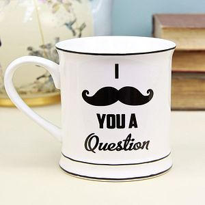 I Moustache You A Question Mug - mugs