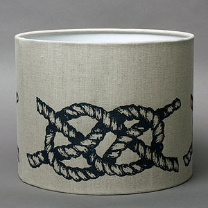 Linen Knot Lampshade - lighting