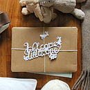 'Welcome Little One' Paper Cut Gift Topper
