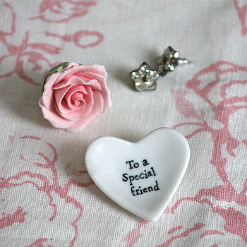 'Special Friend' Tiny Porcelain Heart Dish