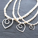 Eternal Heart Pearl Necklace
