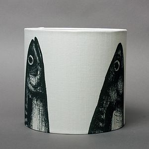 Linen Mackerel Heads Lampshade - lamp bases & shades