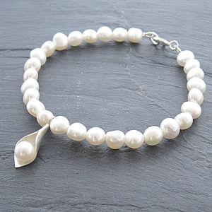 Calla Lily Pearl Bracelet - jewellery for women