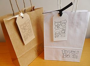 'To You Both' Gift Bag And Tag : Two Sizes - wedding cards & wrap