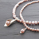 Calla Lily Necklace - Pink