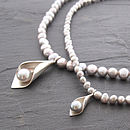 Calla Lily Necklace - Silver