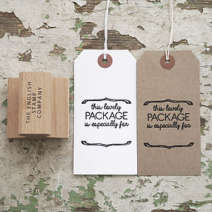 'This Lovely Package is for…' Rubber Stamp - stationery & desk accessories