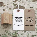 'This Lovely Package is for…' Rubber Stamp