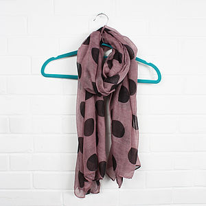 Scarf, Big Polka Dots - gifts for her