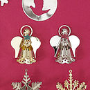 Angel Christmas Tree Decoration, Set Of Three
