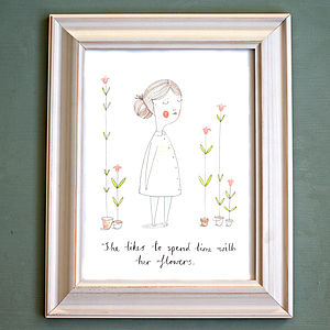 Flower Girl Print - picture frames