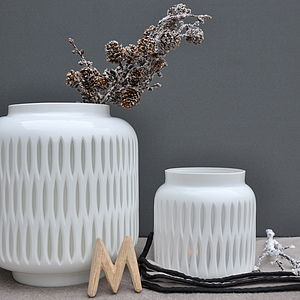 Retro Cameo Pots Vase Or Tea Light Holder - tableware