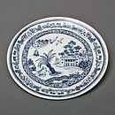 Bone China Cornish Willow Pattern Coupe Plate