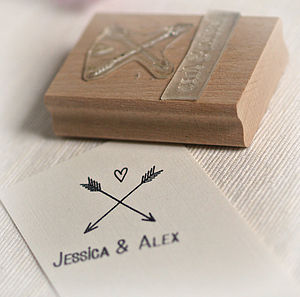 Personalised Heart And Arrows Stamp